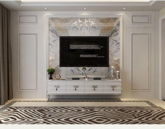 护墙板定制简约客厅背景护墙板卧室电视背景墙隐形门1