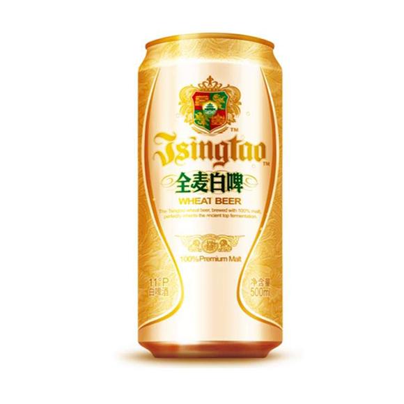 青岛啤酒罐装-全麦白啤500ml