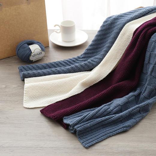 编织人生真丝羊毛围巾diy毛线材料包 棒针中粗毛线含视频教程 商品图1