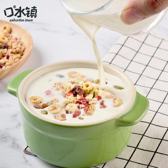 口水镇每日干脆燕麦片礼盒1050g坚果水果干谷物圈即食图片
