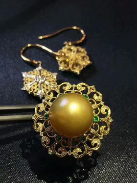 布契拉提工艺金珠戒指
