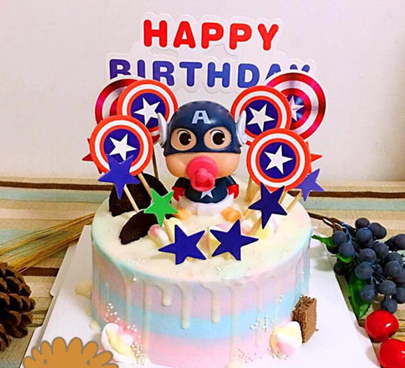 美国队长创意淋面蛋糕