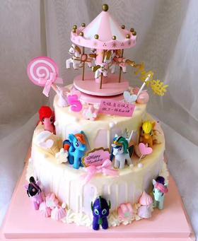 小马宝莉创意淋面蛋糕