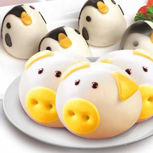 【详见外包装】猪头包/小兔/企鹅卡通面点*2袋