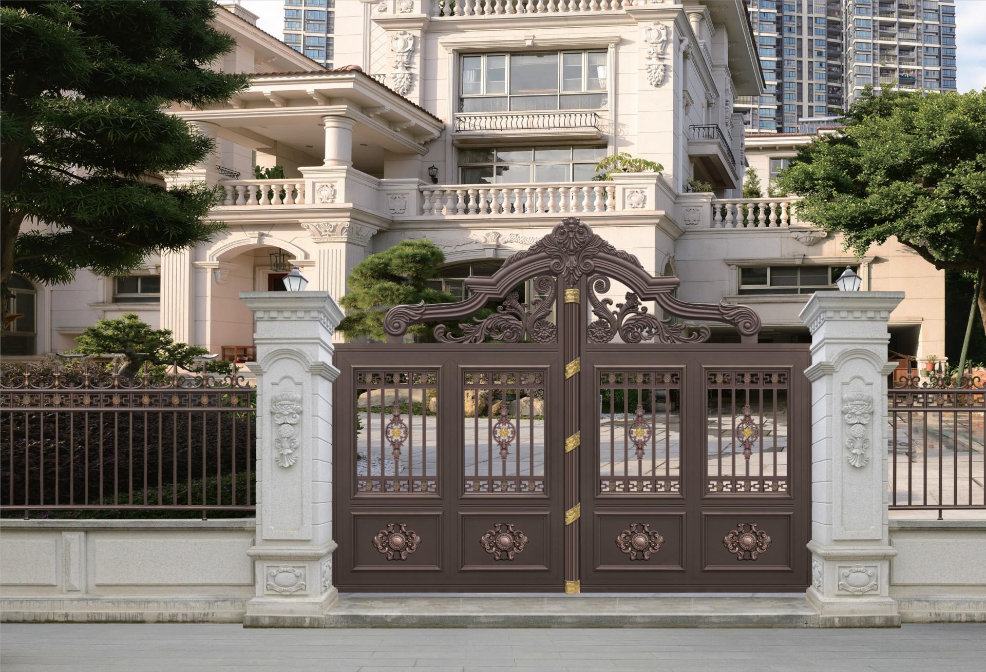 铝艺台门 铝艺大门 庭院门 别墅大门 围墙大门 定制门