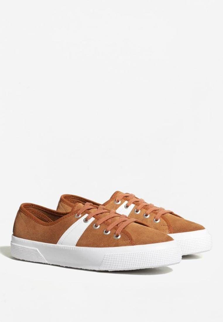 芒果(西班牙快时尚品牌) mango mot - 时尚运动鞋 低帮 - brown