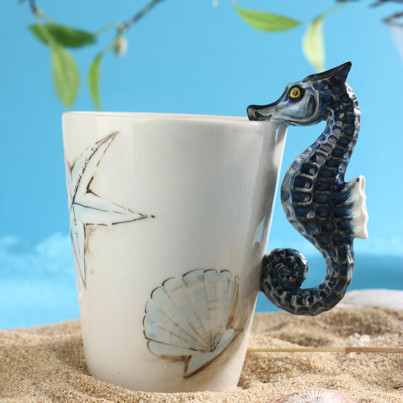 3d立体水杯创意动物杯子陶瓷手绘马克杯个性办公室咖啡杯情侣杯子
