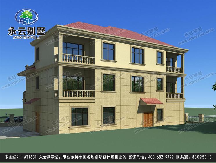 【送裝修圖】at1631新農村豪華復式樓三層別墅全套圖紙17.7mx13.2m
