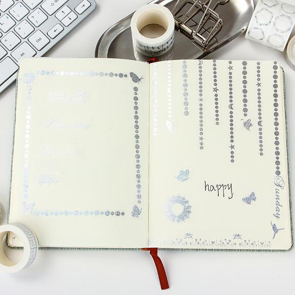 本小姐 欧式边框烫银和纸胶带 diy手帐花边胶带 日记相册装饰胶带