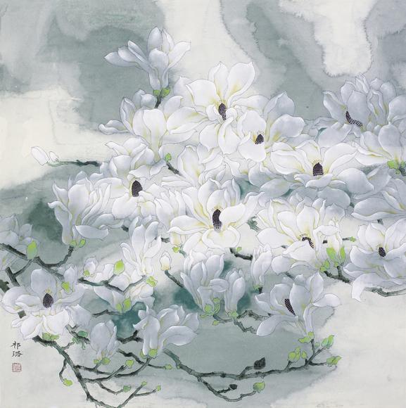 中国美术家协会会员,中国工笔画学会会员,北京工笔重彩画会会员