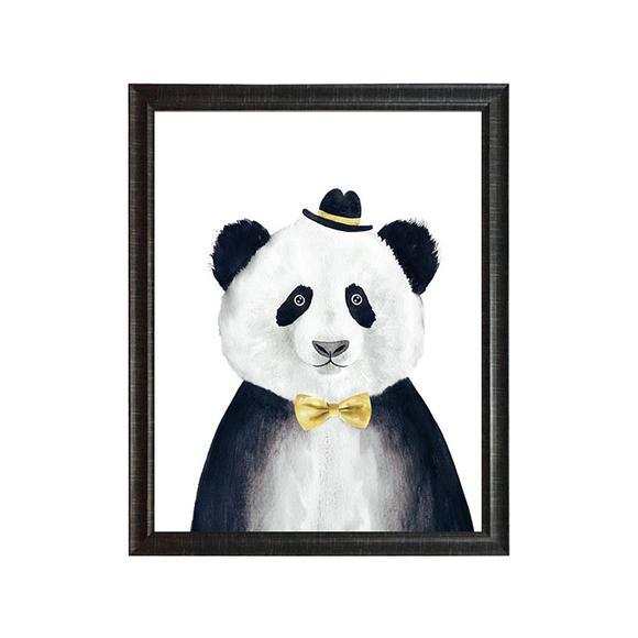 硅藻泥版画——熊猫 50*70cm