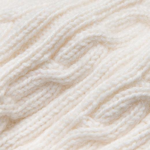 云团织NO.14 双拼围脖 diy手工编织材料包 棒针粗毛线围巾 送教程 商品图3