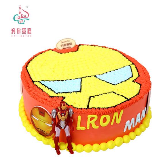 钢铁侠主题生日蛋糕图片
