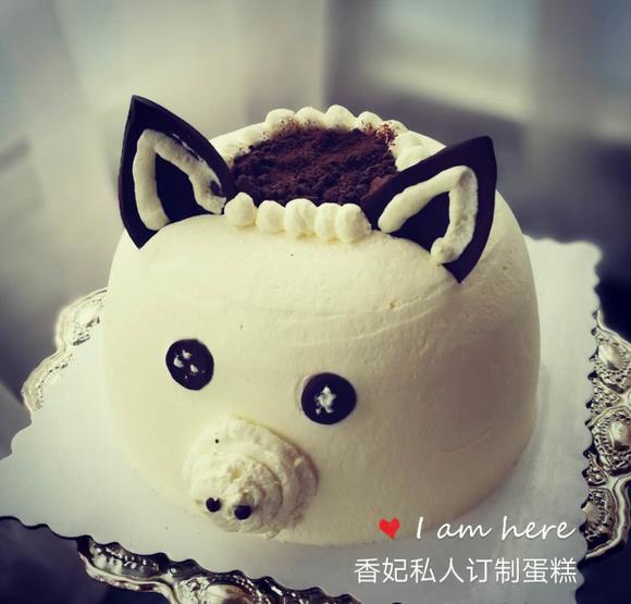 创意小猪猪八戒蛋糕动物奶油生日聚会定制嘉兴同城