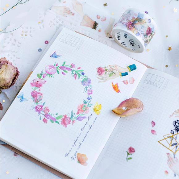 本小姐 可爱小清新和纸胶带 diy水彩手帐胶带 日记小物件装饰胶带