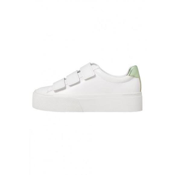 芒果(西班牙快时尚品牌) mango sol - 女鞋 时尚运动鞋低帮 - white