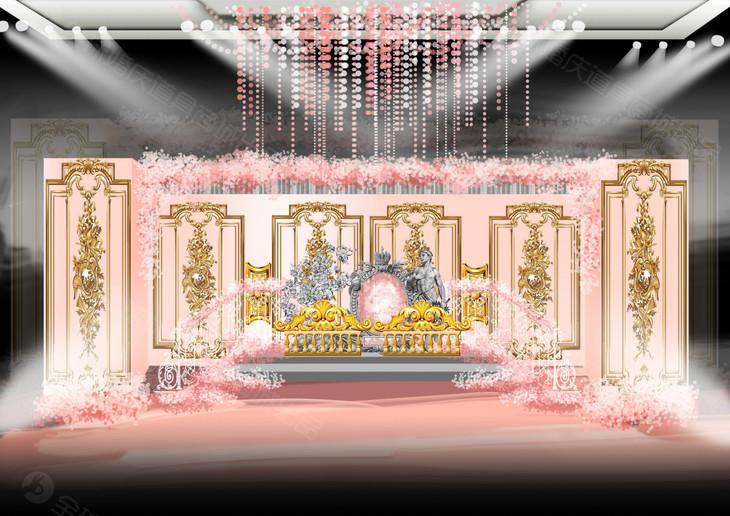 欧式金粉色主题婚礼