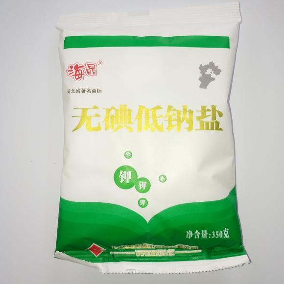 海晶无典低钠盐350g