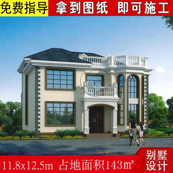 农村两层半自建房别墅11.8米,进深12.