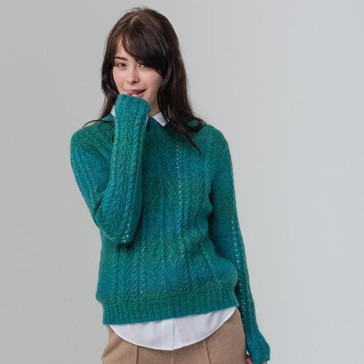 云团织NO.15春来长段染渐变套头衫 棒针手工编织毛衣材料包送教程 商品图2