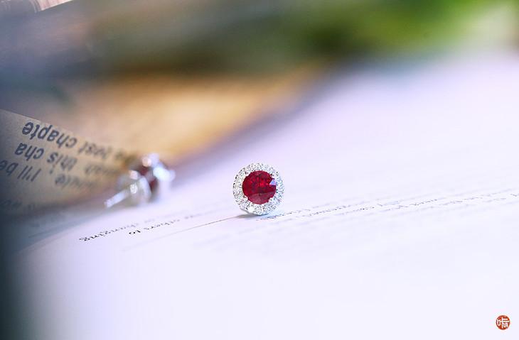 红宝石耳钉(现货已出,须定制)图片