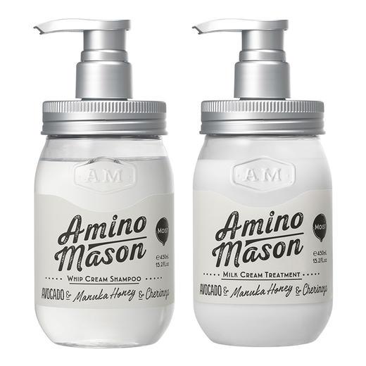 新品 爆款 日本 amino mason氨基酸 无硅油保湿洗发水护发素 450ml/瓶 商品图9