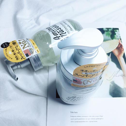 新品 爆款 日本 amino mason氨基酸 无硅油保湿洗发水护发素 450ml/瓶 商品图6