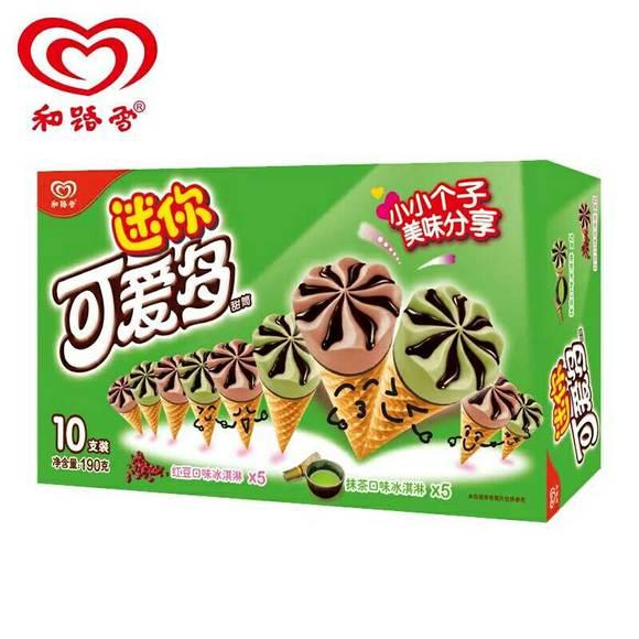 可爱多迷你红豆抹茶冰淇淋