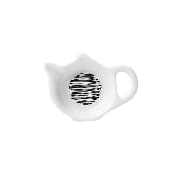 现代简约风 陶瓷餐具 餐碟餐碗马克杯水壶酒杯 黑白图案 涂鸦
