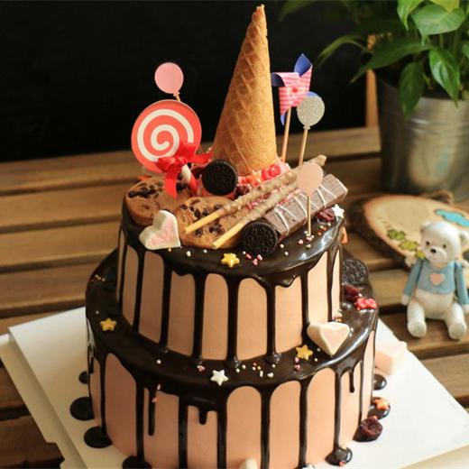 千娇 | 双层淋面蛋糕 商品图0