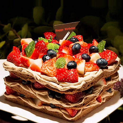 鸿运当头 | 巧克力草莓裸蛋糕 商品图0