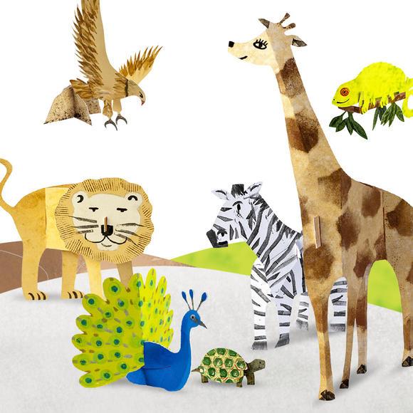 立体折纸28款3d动物 儿童手工折纸 启蒙早教书3d立体书幼儿手工制作