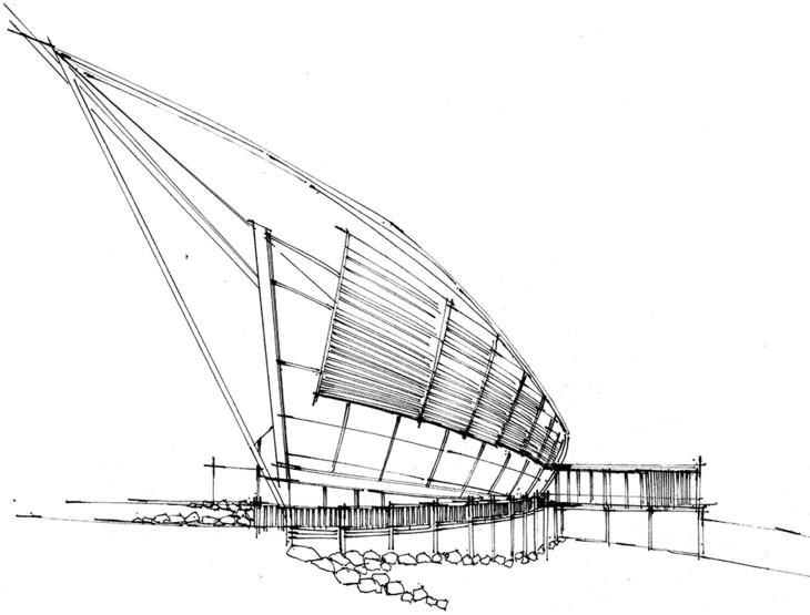游客中心建筑手绘表现云南昆明手绘培训,一行手绘昆明