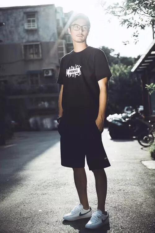 mdns 余文乐联名限定周杰伦字母卫裤短裤.图片
