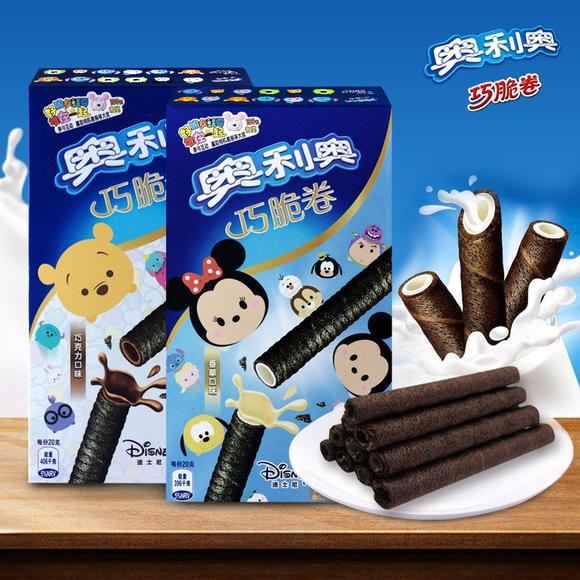 奥利奥巧脆卷55g/盒 香草口味/巧克力口味图片