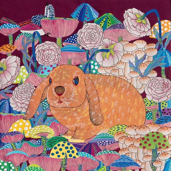儿童美丽的画画图片,只可爱的小兔