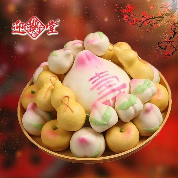 椿寿-大寿桃,老人祝寿礼盒,传统手工制作