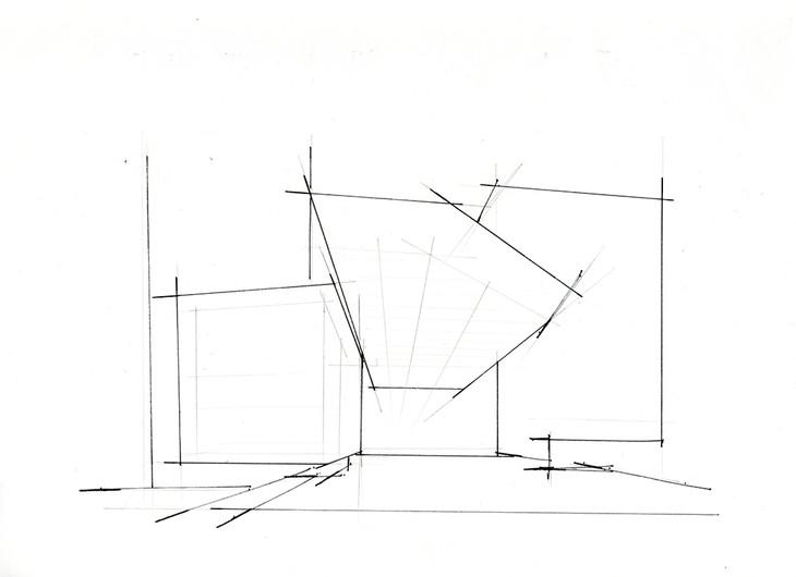 墨尔本图书馆建筑手绘临摹图云南昆明手绘培训