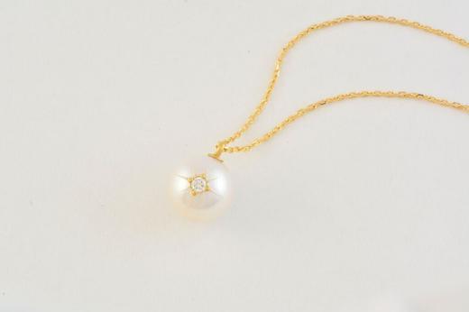 Rico 珍珠镶钻项链 商品图1