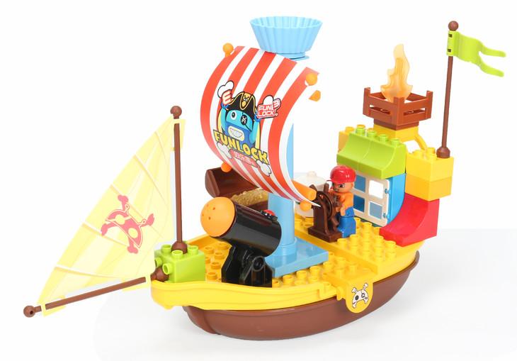 海盗船积木图纸-loz积木海盗船图纸_积木拼船图片_船