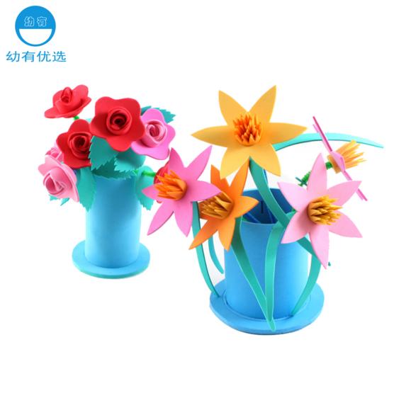 母亲节礼物幼儿园手工diy制作立体eva百合花送妈妈