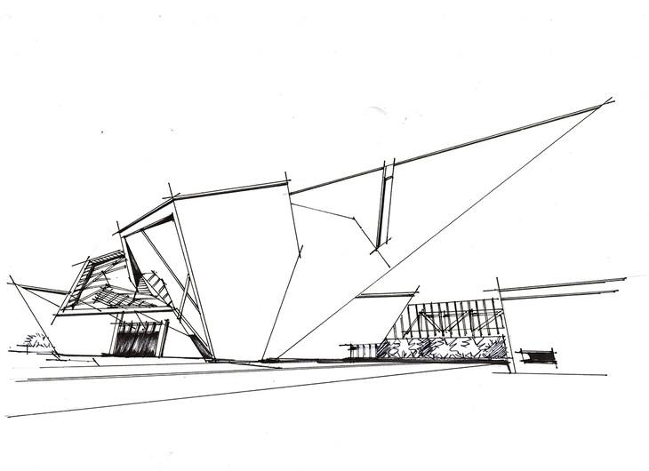 丹弗美术馆建筑手绘临摹图带步骤带马克青岛手绘培训