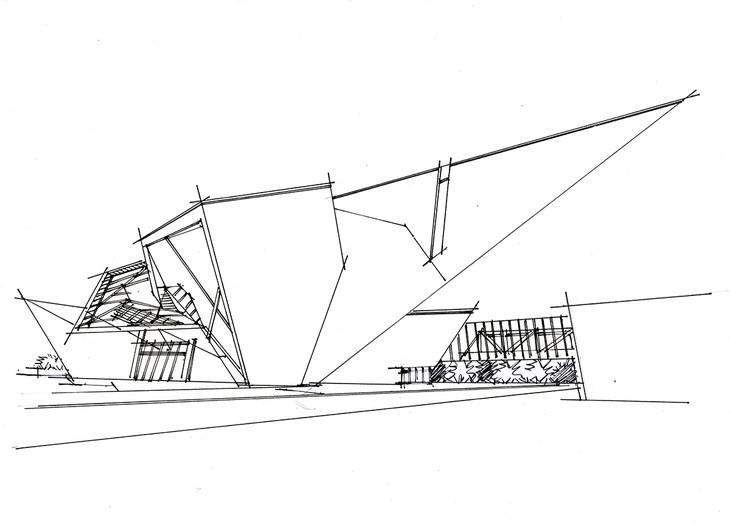 丹弗美术馆 设计师:Gio Ponti 地点:美国 绘图:五空一行.青岛手绘培训 STEP1:根据十六宫格的画法,确定好大透视线的位置,结构一定要清晰。STEP2:继续完善左侧的小结构,小结构线条虽然短,但是一定要用笔有力。STEP3:加重建筑的暗部,建筑的投影部分和建筑表皮建议可以在马克部分解决,不要在这个阶段直接添加,会使画面比较乱。STEP4:观察建筑固有色,从建筑的暗部开始入手画,只需要先明确出明暗关系即可。 马克笔:WG3,WG5 STEP5:继续深化建筑暗部的变化关系,明确区分建筑的转折面,添