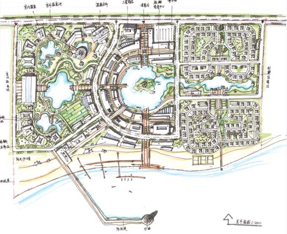 城市规划快题平面图上色方式