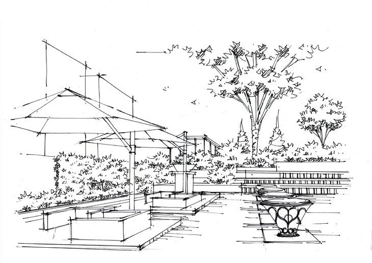 住宅景观手绘教学临摹步骤图昆明手绘培训【一行手绘昆明】