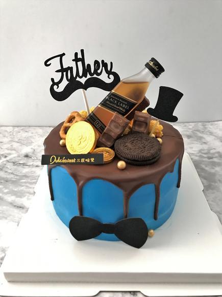 酒瓶男士蛋糕图片