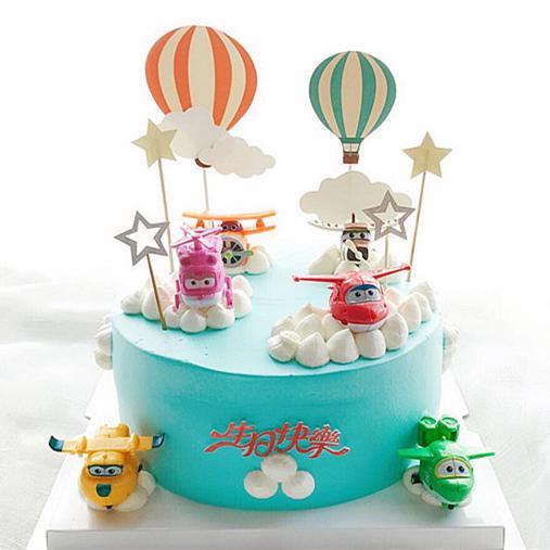 翱翔超级飞侠   创意卡通主题生日蛋糕 商品图0
