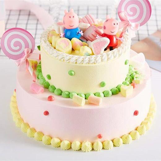 小猪佩奇 | 儿童主题卡通双层蛋糕 商品图0