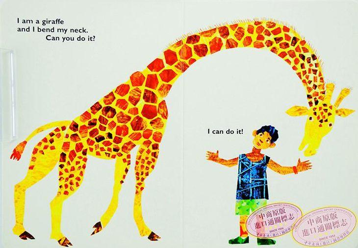 本书教会小朋友学习12种动物的英语说法,及12个身体部位英语说法及12