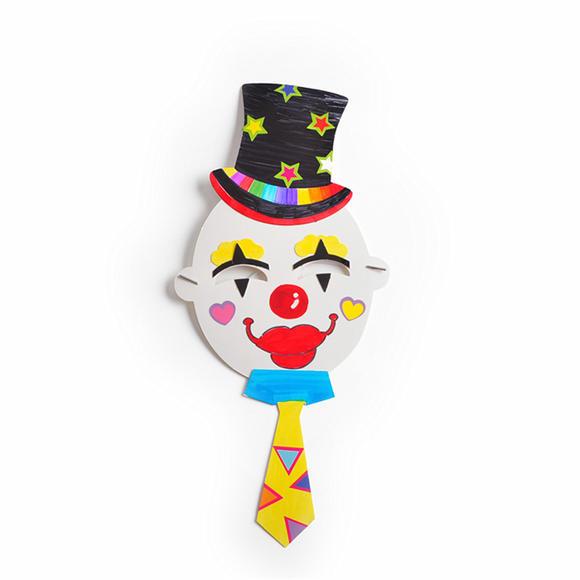 幼儿园课堂手工diy创意手工小丑面具材料包